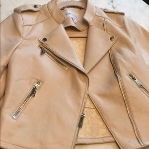 BCBGeneration vegan leather jacket pale pink xs